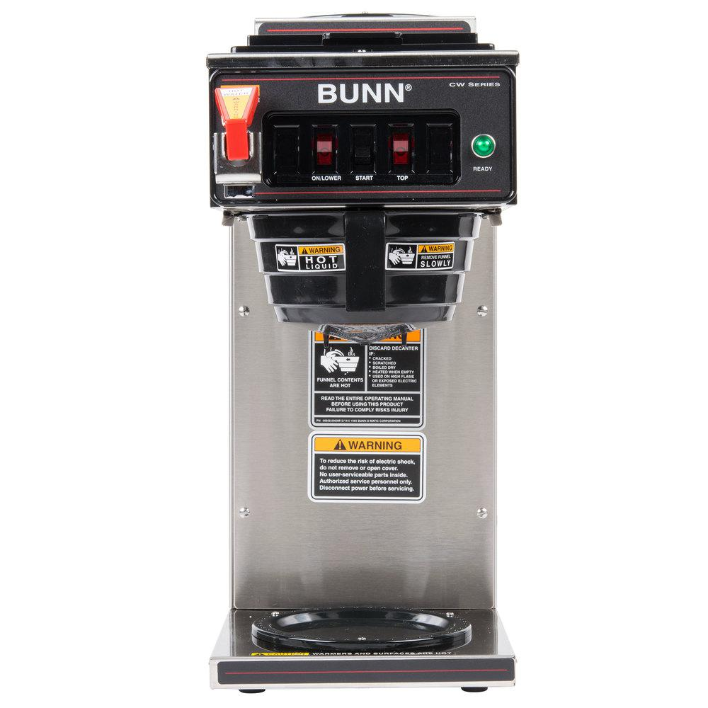 BUNN 12-Cup Automatic Commercial Coffee Brewer with 2-War...