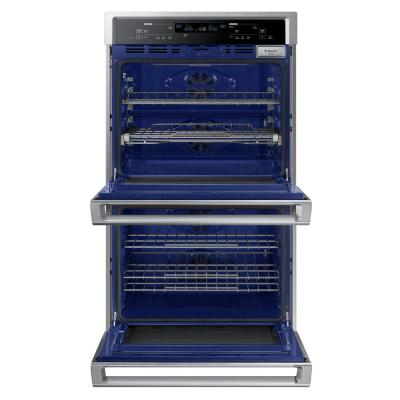 30 in. Double Electric Wall Oven with Steam Cook and Dual Convection in Stainless Steel