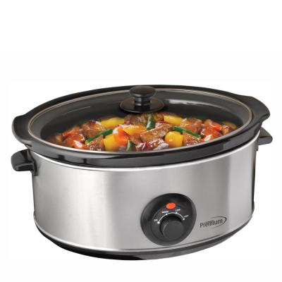 7 Qt. Stainless Steel Slow Cooker with Keep Warm Setting