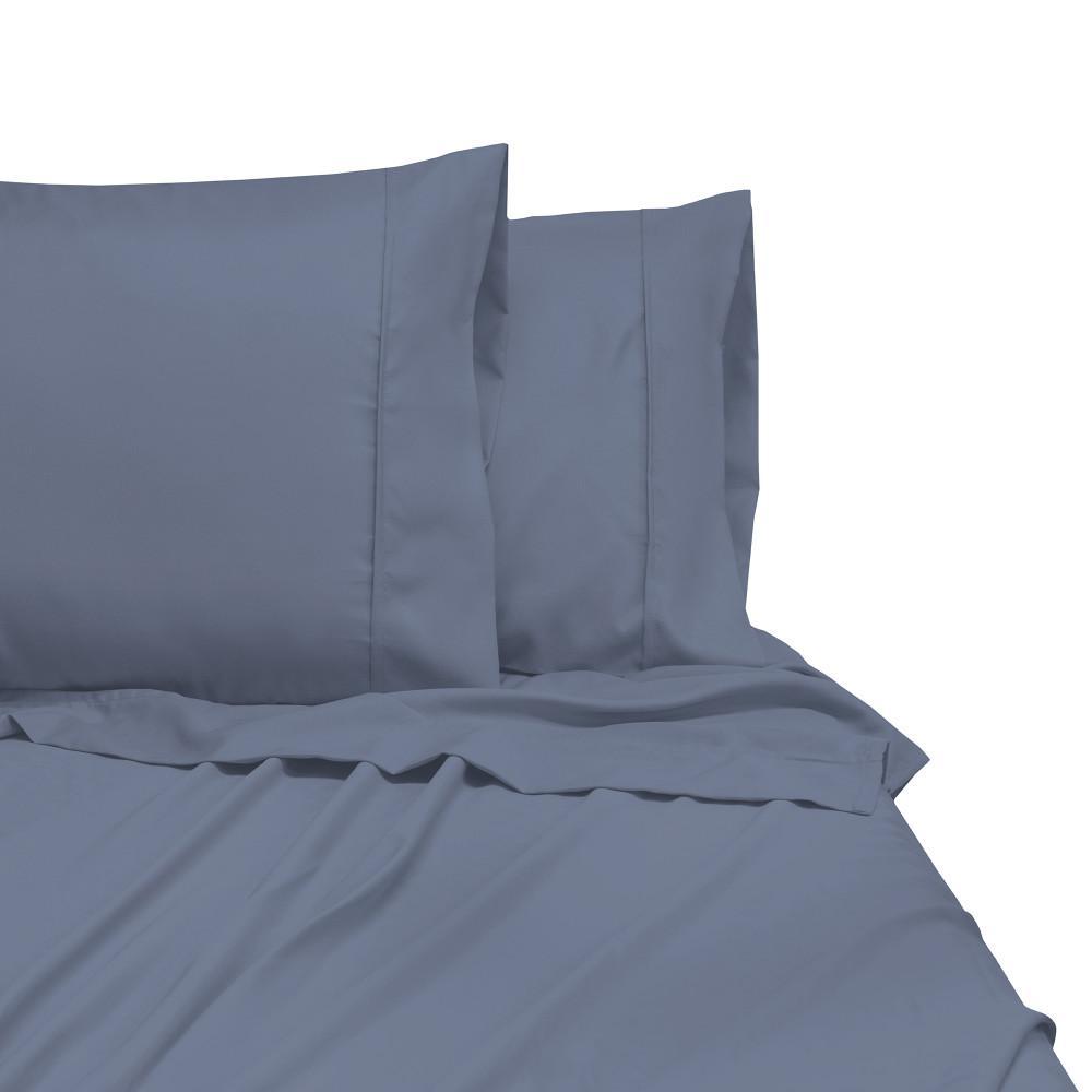 3-Piece Cobalt Blue Microfiber Twin XL Sheet Set