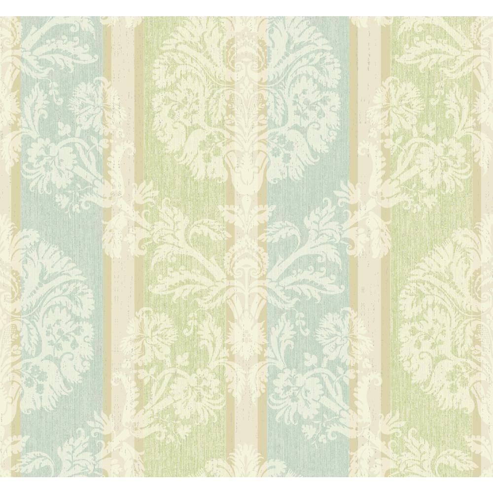 Carey Lind Vibe Woven Damask Stripe Wallpaper