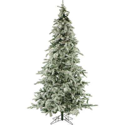 7.5 ft. Unlit Flocked Mountain Pine Artificial Christmas Tree