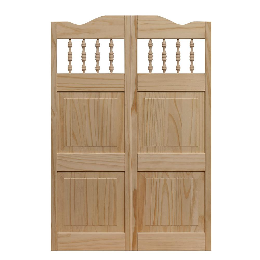 30 in. x 42 in. Royal Orleans Spindle-Top Wood Saloon Door
