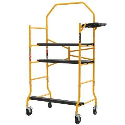 Job Site Series 6-3/8 ft. x 4 ft. x 2-1/2 ft. Scaffold 900 lb. Load Capacity
