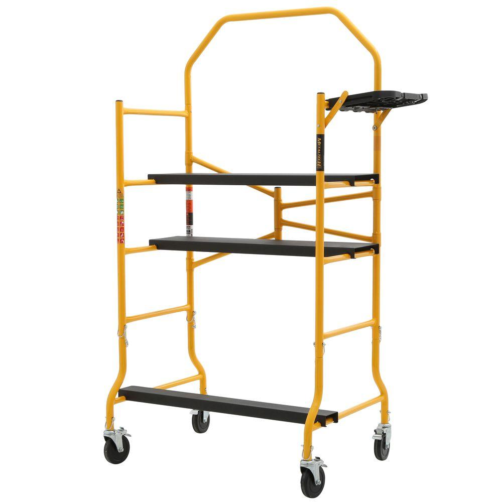 MetalTech Job Site Series 5 ft. x 4 ft. x 2-1/2 ft. Scaffold 900 lbs. Load Capacity