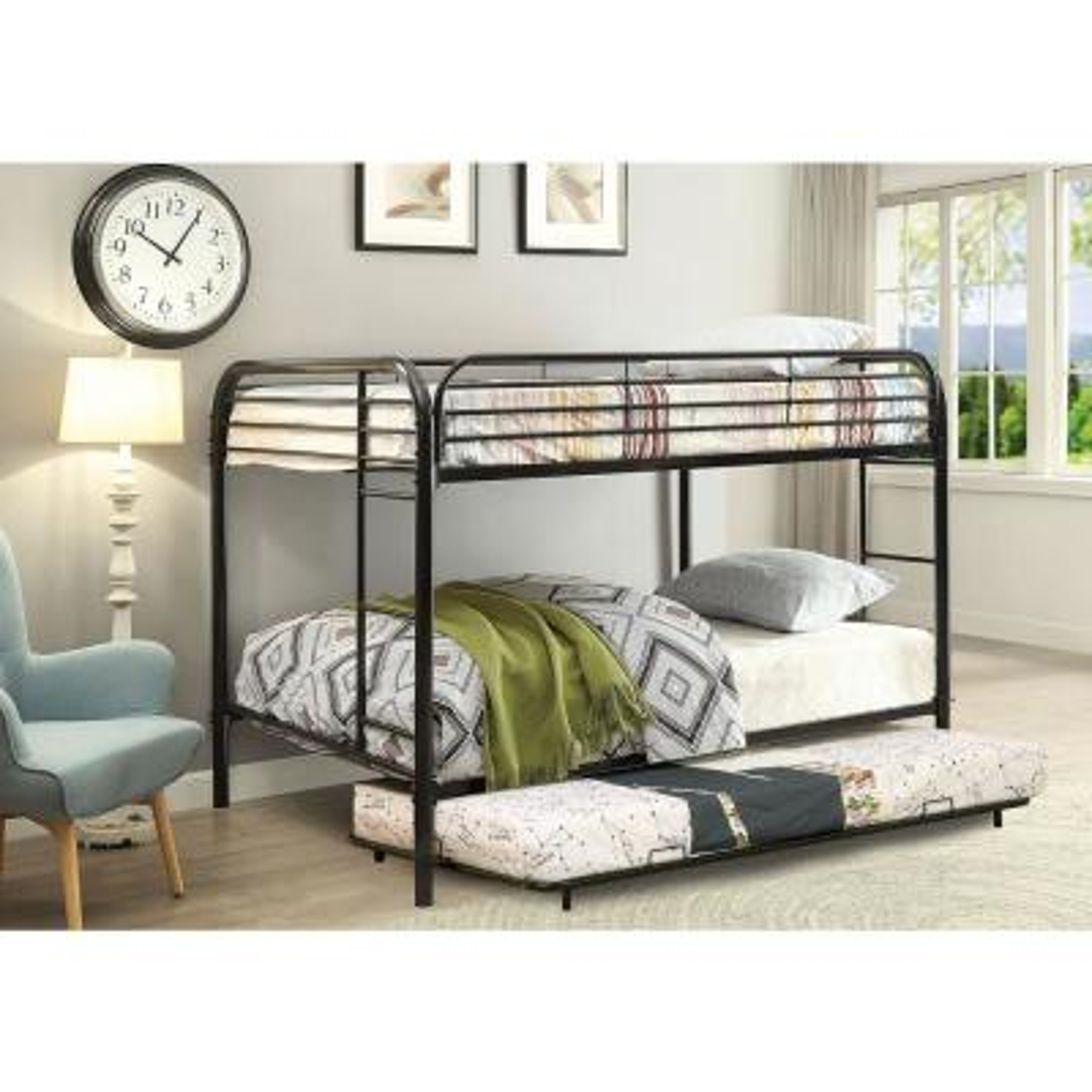 Black Opal Metal Full over Full Size Bunk Bed