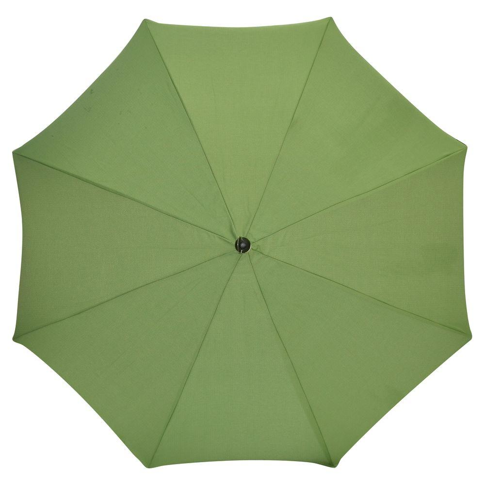 Plantation Patterns 7-1/2 ft. Patio Umbrella in Lakeside Green Textured-DISCONTINUED