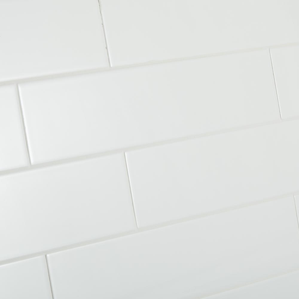 Daltile Restore Bright White 4 In X 16 In Ceramic Wall Tile 1320