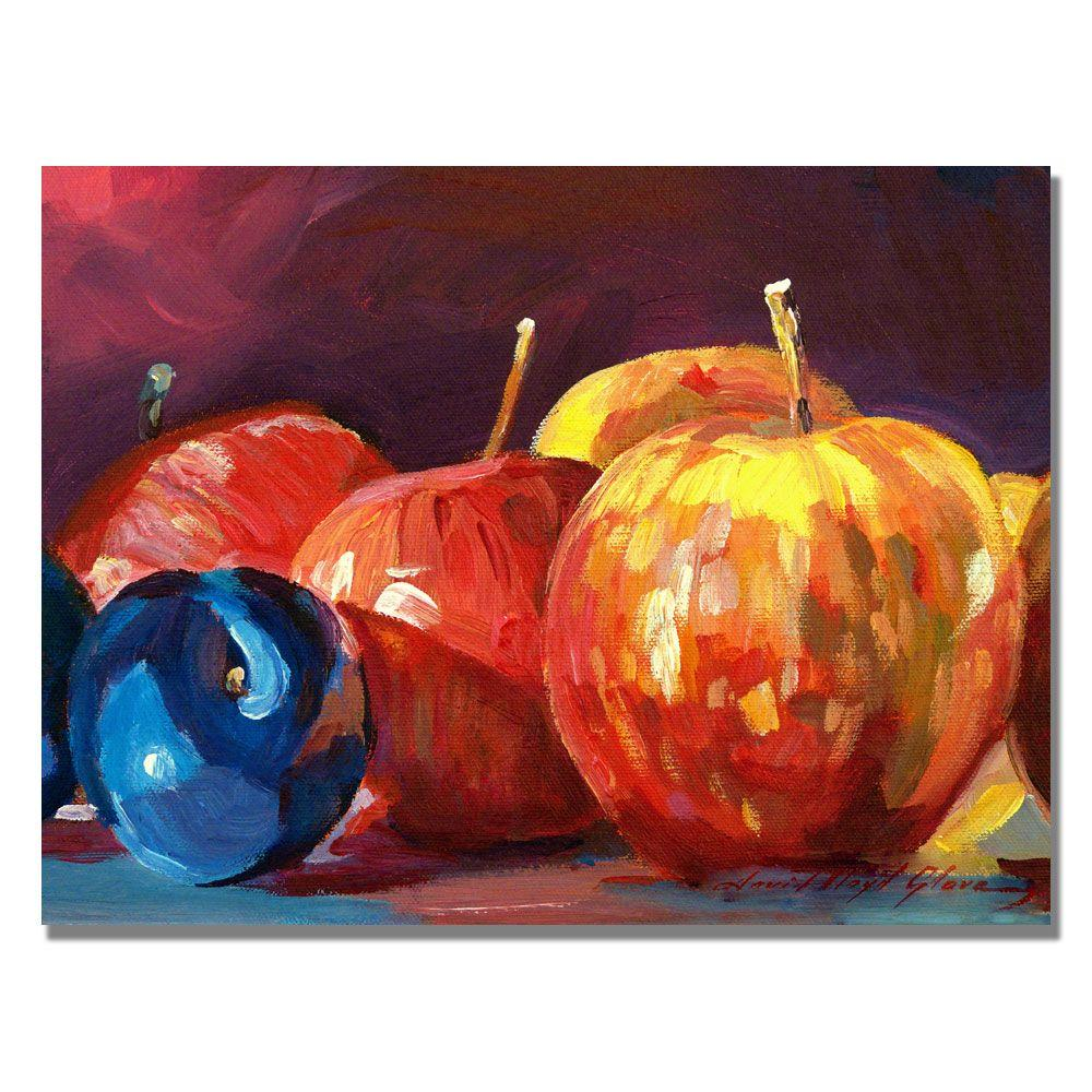 Trademark Fine Art 18 in. x 24 in. Ripe Plums and Apples Canvas Art