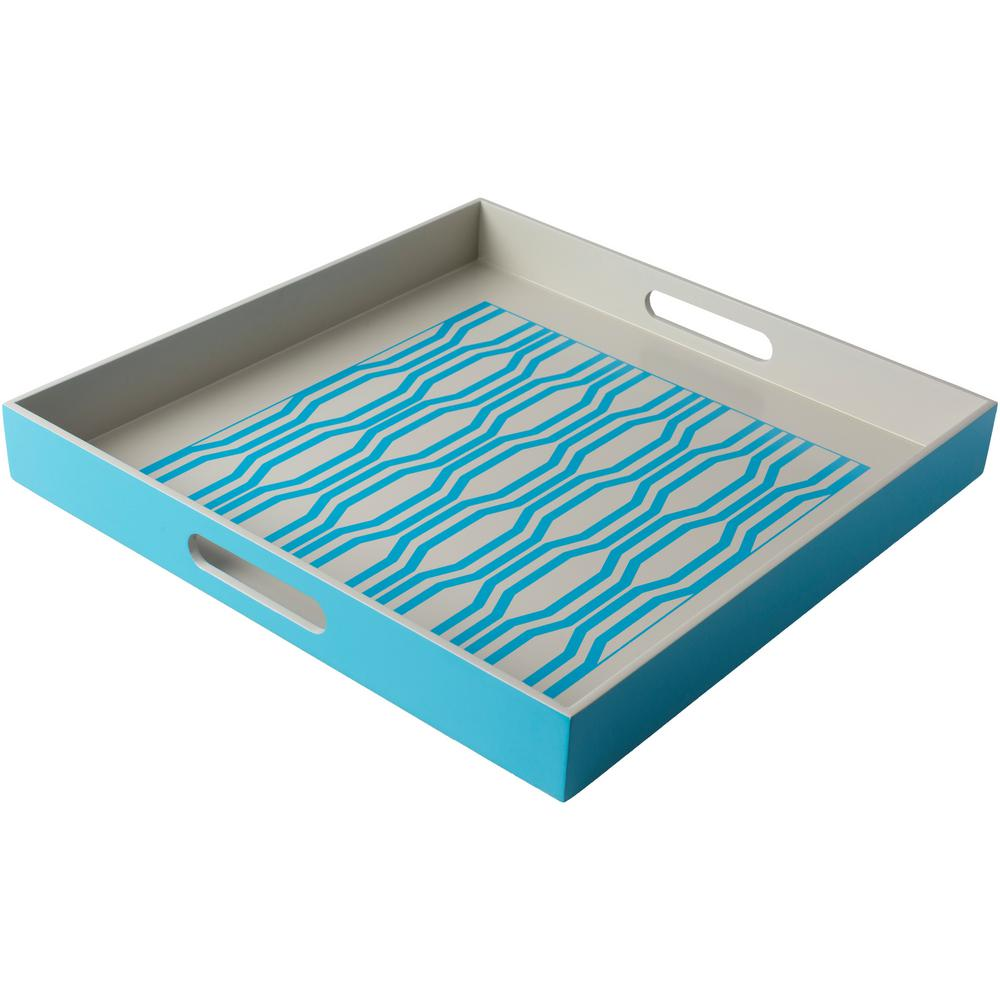 Rocry Sky Blue 15.7 in. Decorative Tray