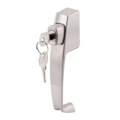 1-3/4 in. Hole Center Aluminum Push Button Lock with Key