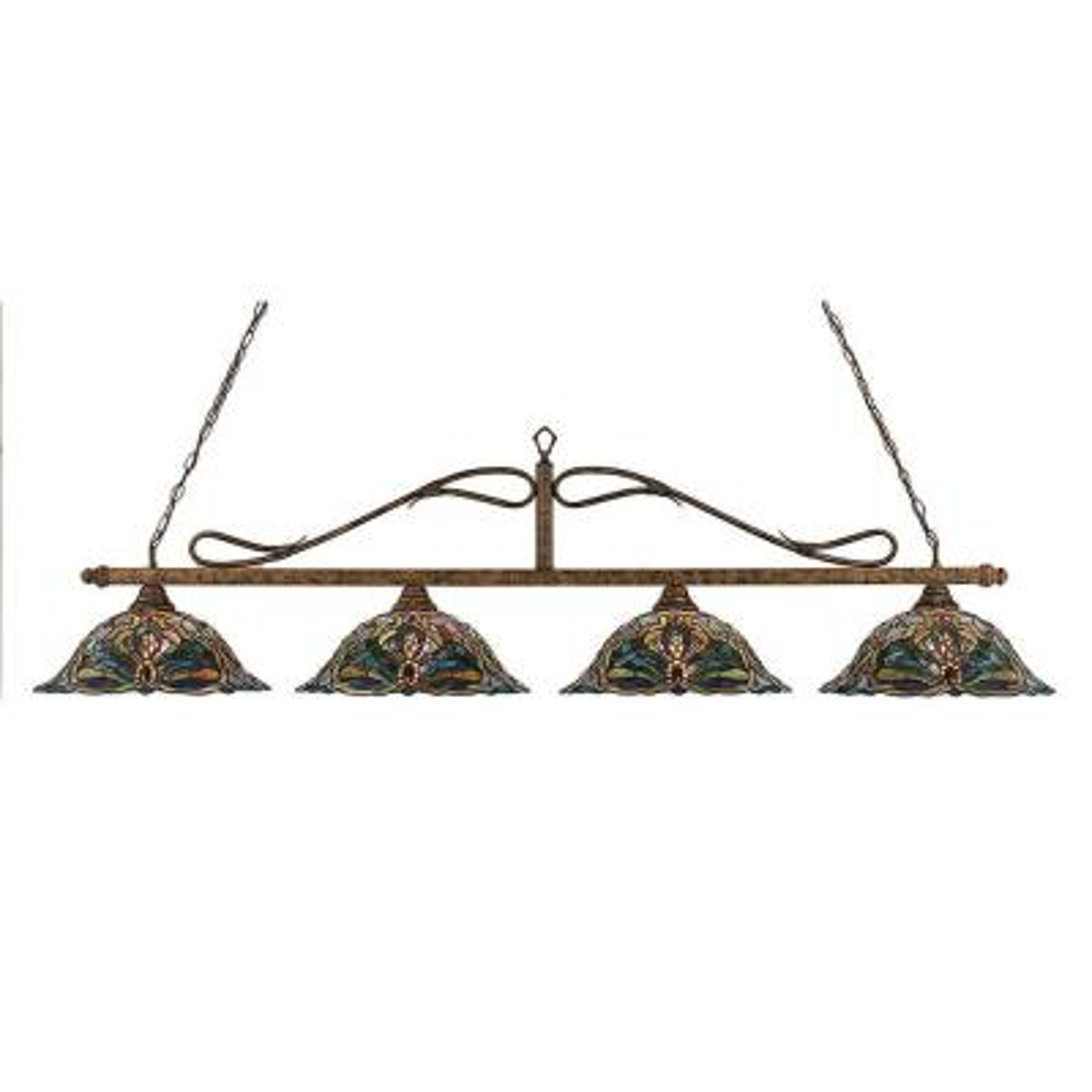 Concord 4-Light Bronze Incandescent Ceiling Island Pendant