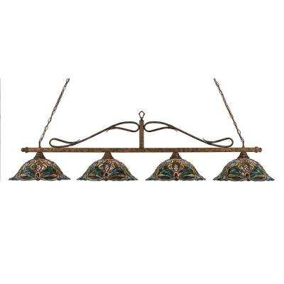Concord 4-Light Bronze Incandescent Ceiling Island Pendant