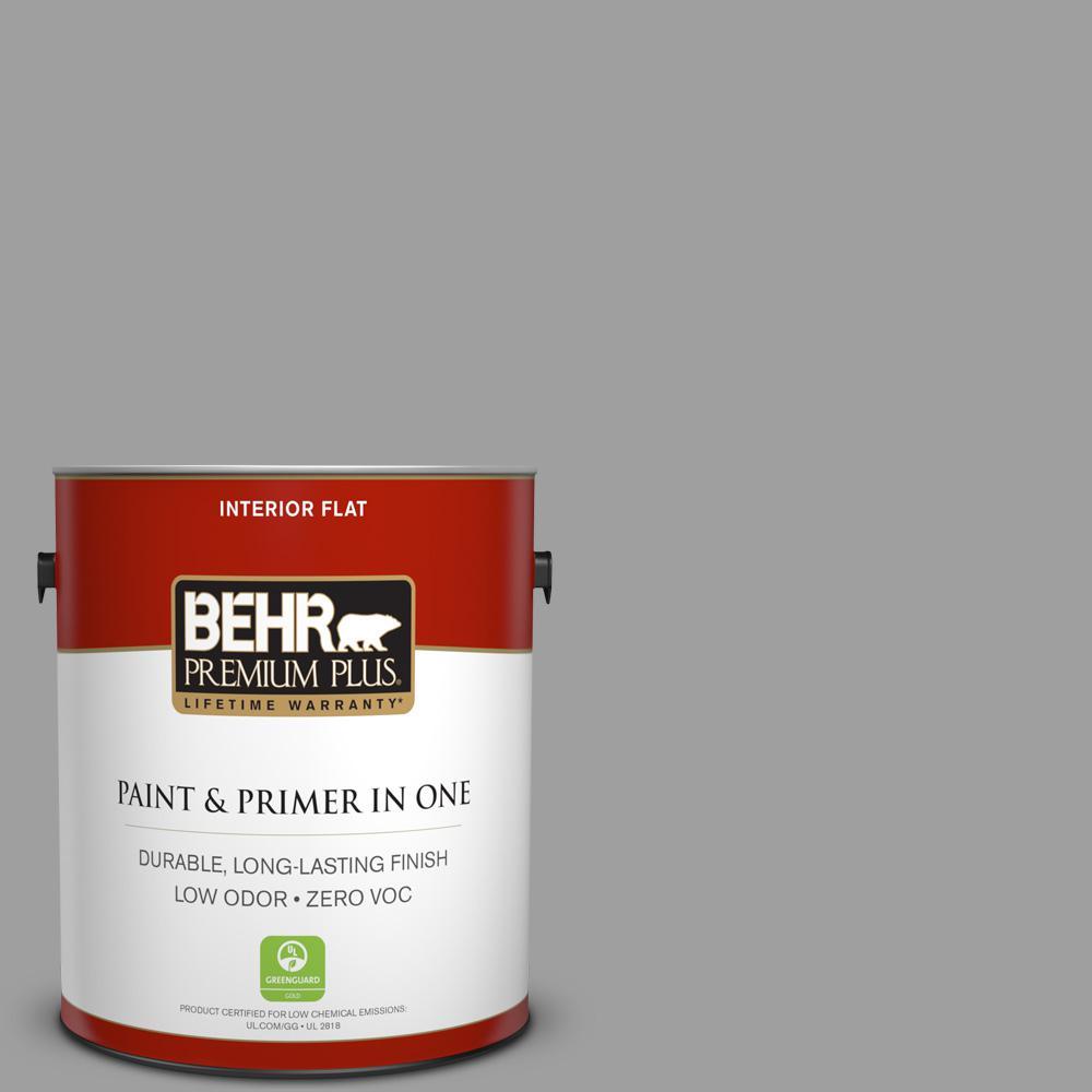 1 gal. #PPU26-06 Elemental Gray Zero VOC Flat Interior Paint