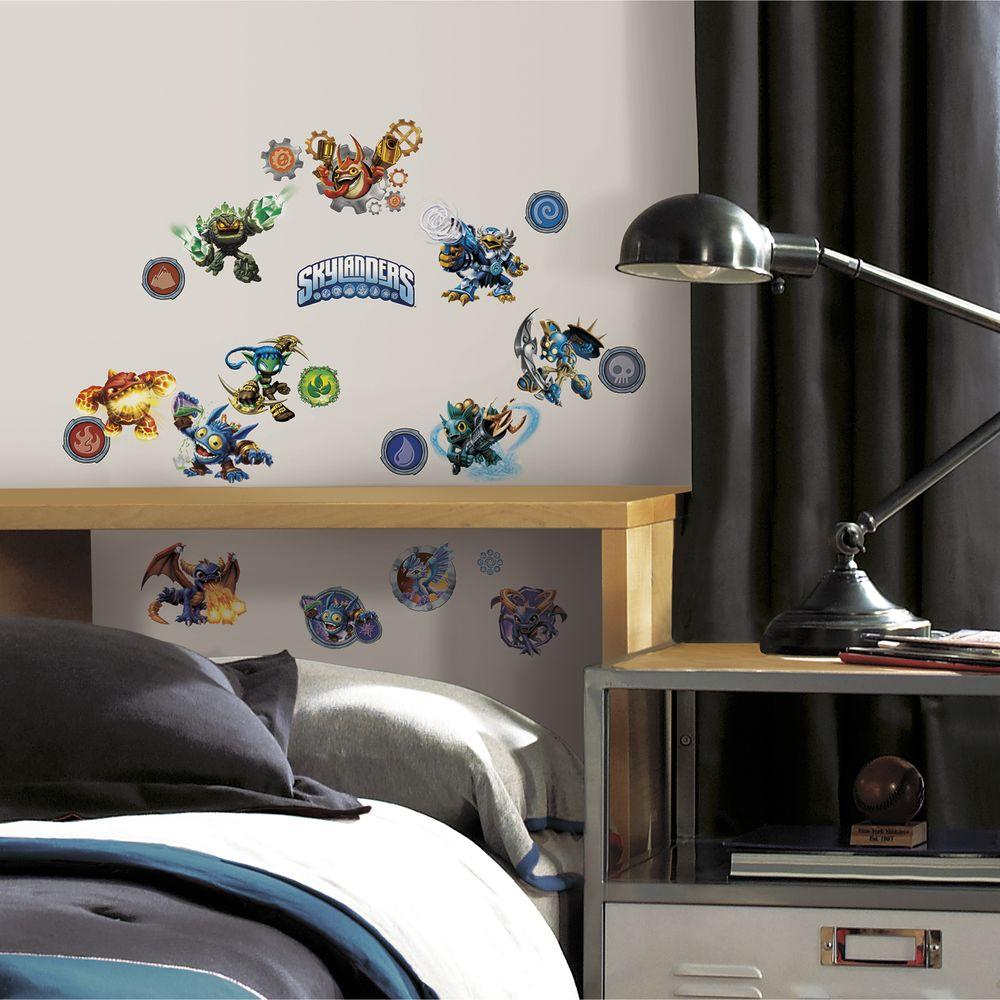 RoomMates 5 in. x 11.5 in. Skylanders Classic Peel and Stick Wall Decal