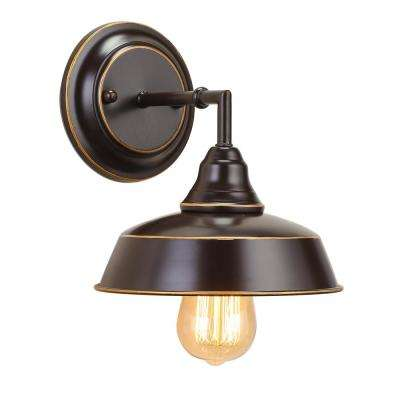 1-Light Oil Rubbed Bronze Industrial Wall Sconce