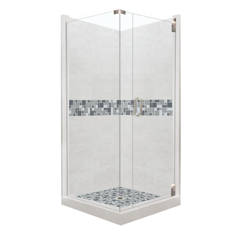 36 x 36 corner shower kit. newport grand hinged 36 in. x corner shower kit
