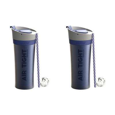 2-Piece Blue 17 oz. Fresh N Go Tumbler Set