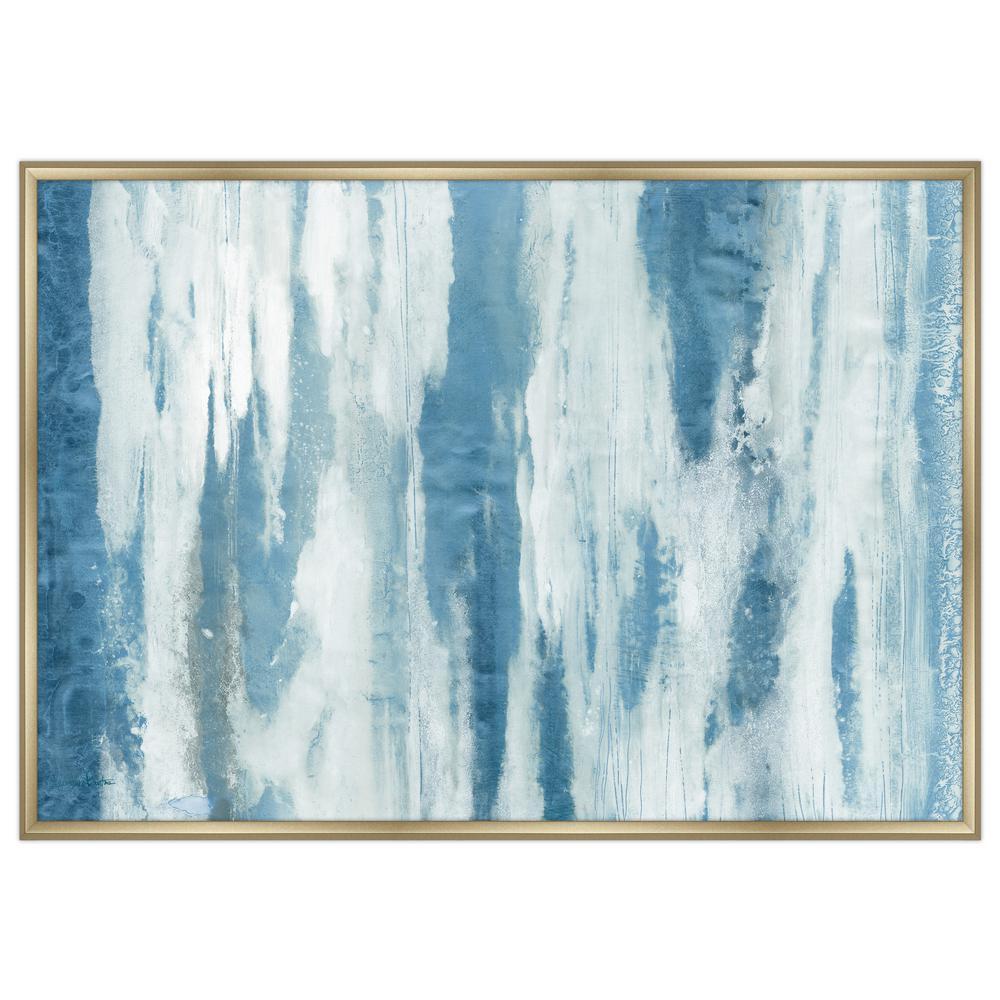 """59 in. x 43 in. """"Blue River II"""" Framed Canvas Wall Art"""