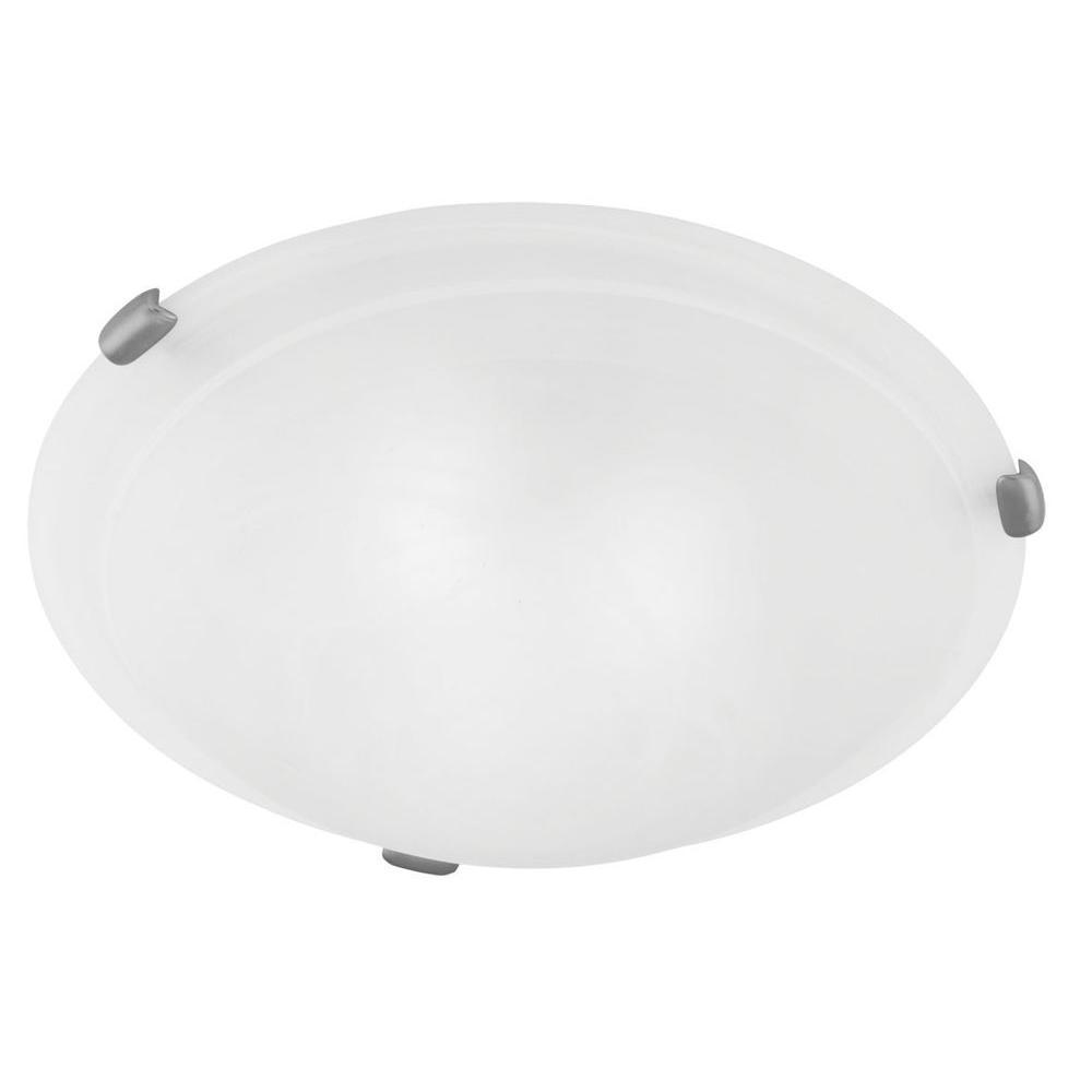 Providence 2-Light Brushed Nickel Incandescent Ceiling Flush Mount