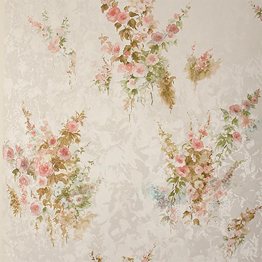 Brewster quinn peach bouquet floral wallpaper 2704 22676 - Floral wallpaper home depot ...