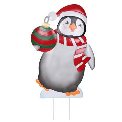 Christmas Event Decoration Joiedomi 21in Tinsel Penguin LED Yard Light for Christmas Outdoor Yard Garden Decorations Christmas Eve Night Decor