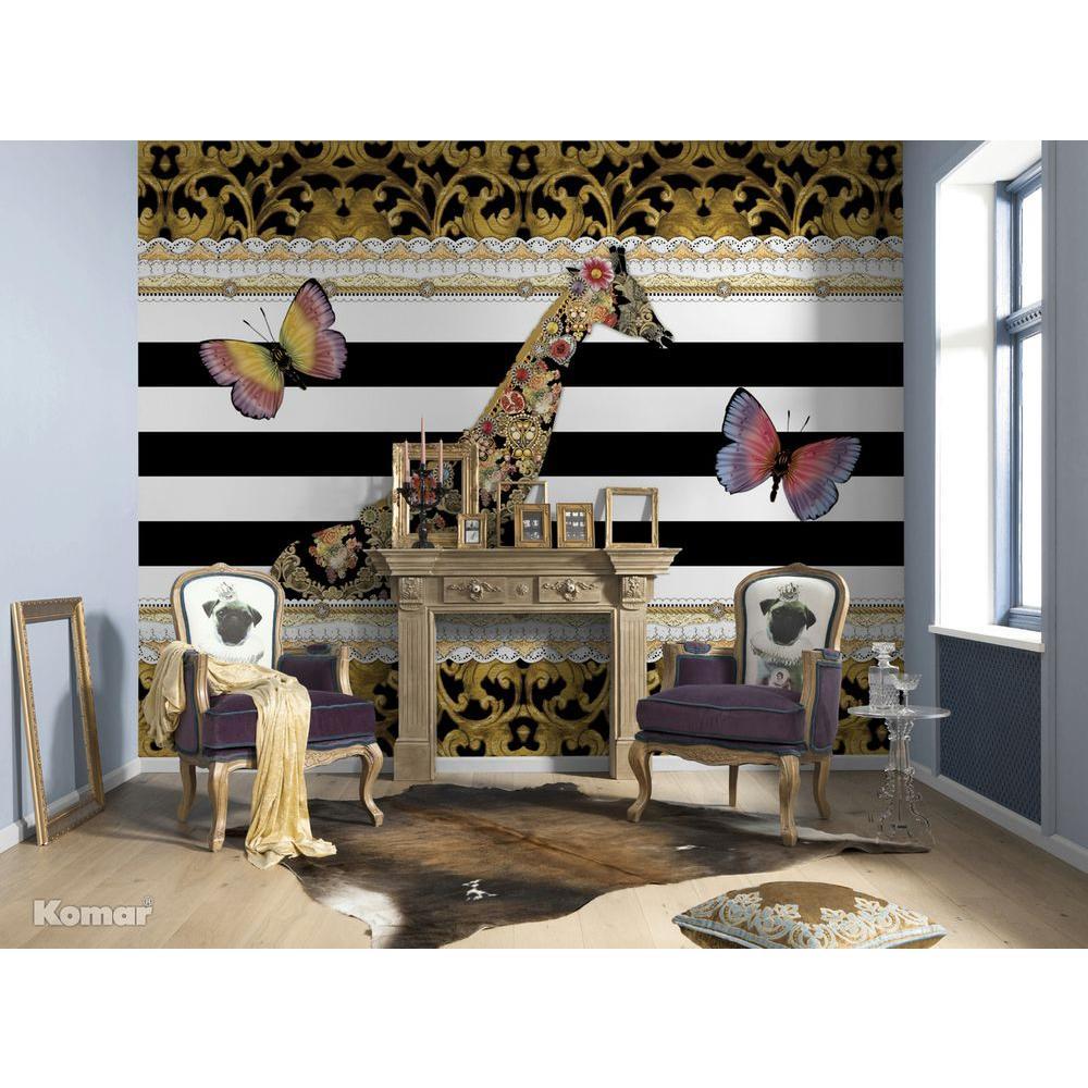100 in. x 145 in. Melli Mello Giraffe Wall Mural