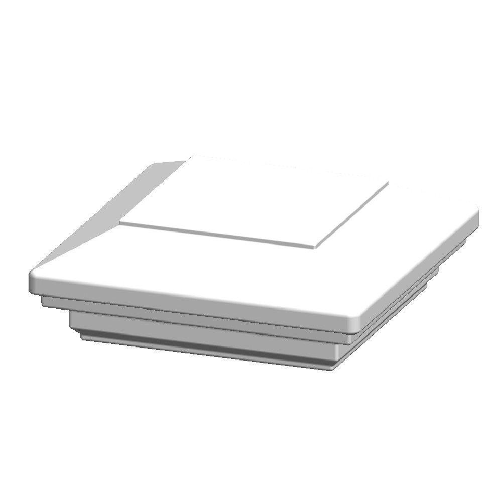 Pegatha 3.5 in. x 3.5 in. Aluminum White Flat Top Post Cap
