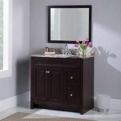 Brinkhill 36 in. W x 34 in. H x 22 in. D Bath Vanity Cabinet Only in Chocolate
