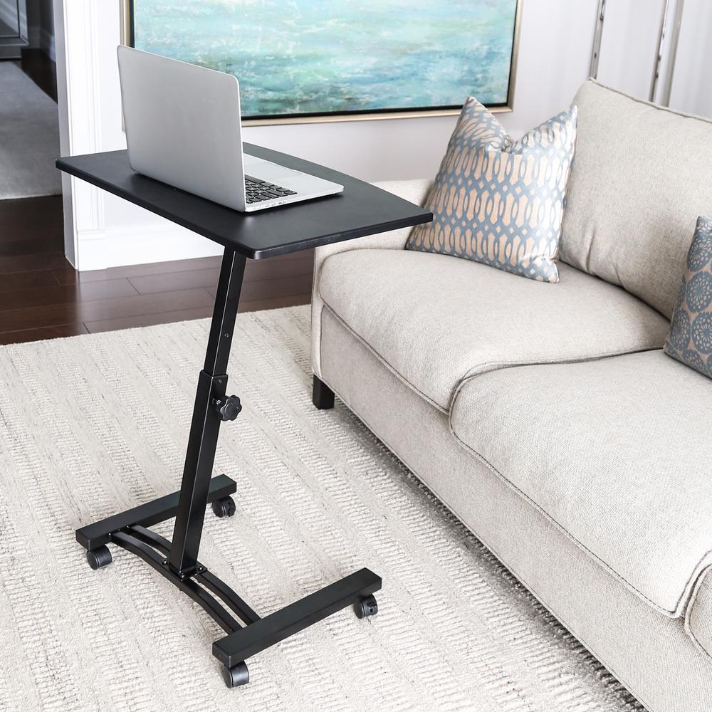 Groovy Seville Classics Airlift Black Mobile Laptop Computer Desk Short Links Chair Design For Home Short Linksinfo