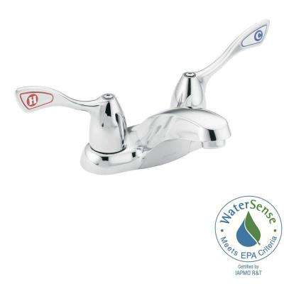 4 in. Centerset 2-Handle High-Arc Bathroom Faucet in Chrome