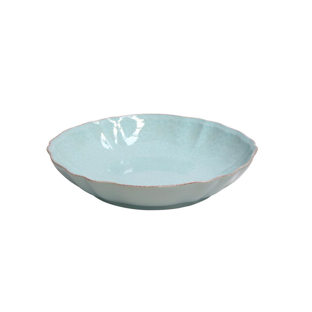 Casa Stone By Casafina impressions 13 in. 95 fl. oz. blue ceramic stoneware serving bowl