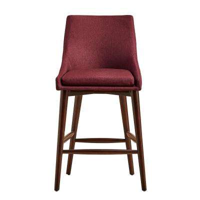 Leton Merlot Mid Century Bar Stool Set Of 2