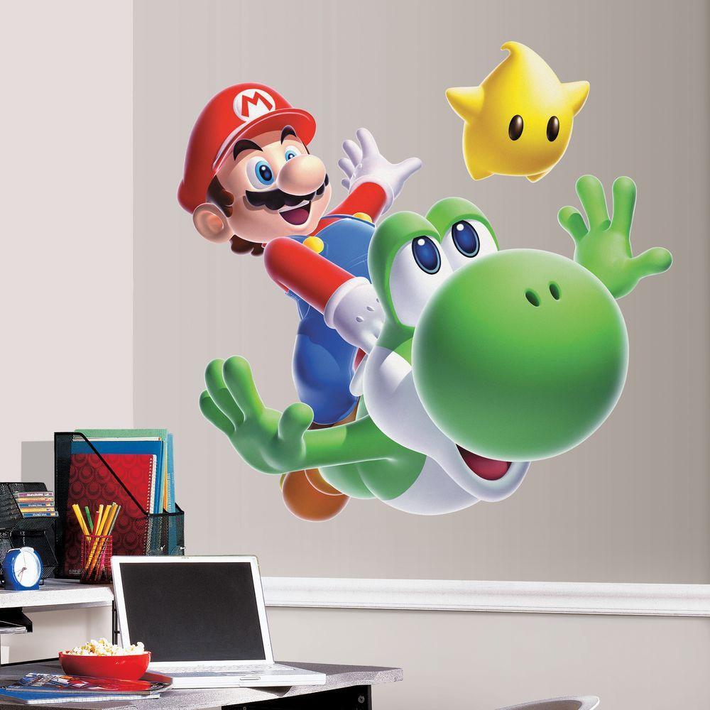 RoomMates 3.5 in. H Nintendo Mario Yoshi Peel & Stick Giant Wall Decal