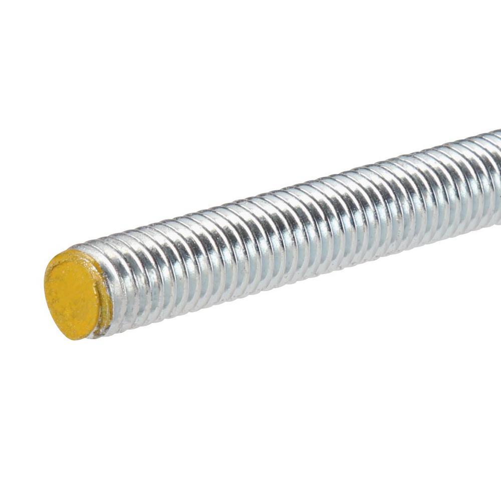 3//8-16 X 2 Zinc Plated Threaded Rod Studs Box of 100