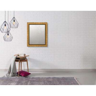 Pinnacle 20.375 in. x 24.375 in. Urban Bead Framed Antique Mirror