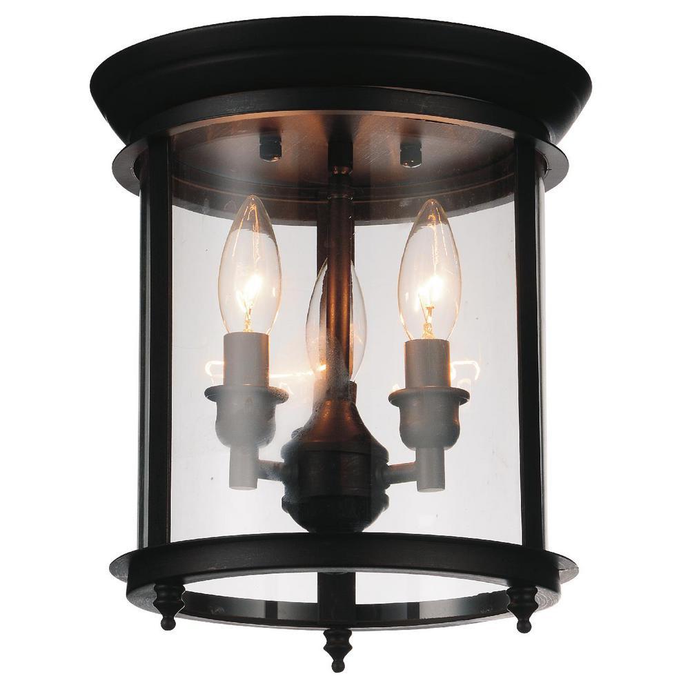 3 light flush mount directional cwi lighting desire 3light oil rubbed bronze flushmount flushmount9809c103