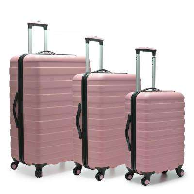 Cypress Colorful 3-Piece Pink Hardside Spinner Luggage Set