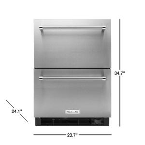 Kitchenaid 4 7 Cu Ft Double Drawer Refrigerator Freezer In Stainless Steel Counter Depth