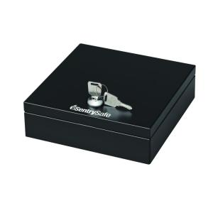 steel drawer safe with key lock black - Sentry Safe Models