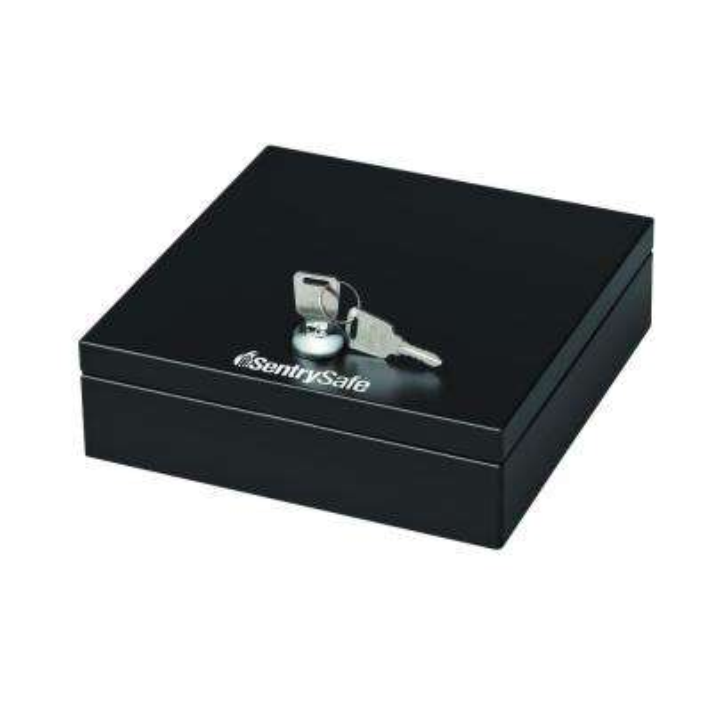 0.06 cu. ft. Steel Drawer Safe with Key Lock, Black