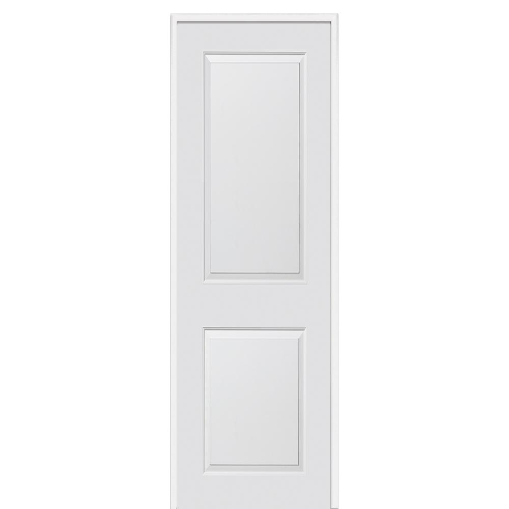 Mmi Door 36 In X 96 In Smooth Carrara Left Hand Solid Core Primed Molded Mdf Single Prehung