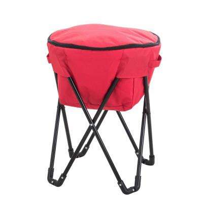 27 qt. Red Foldable Soft-Side Cooler