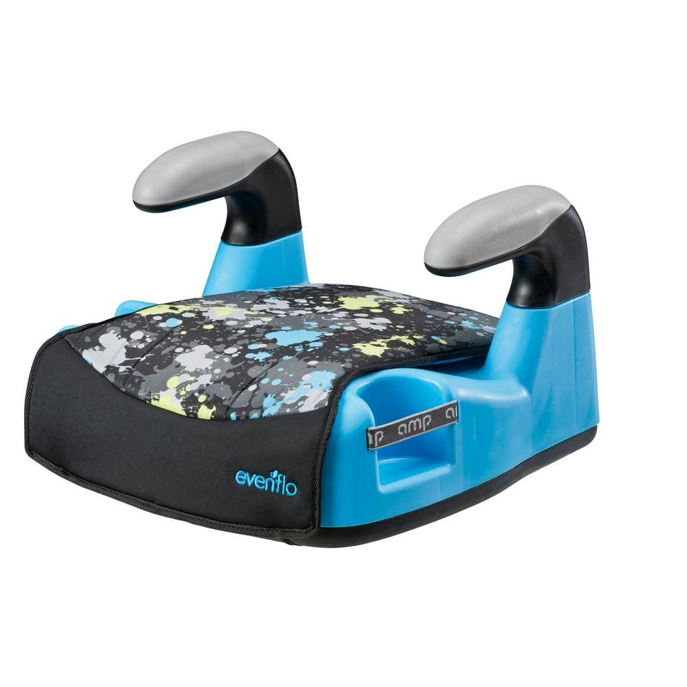 Evenflo AMP LX No Back Booster Seat in Blue Splat