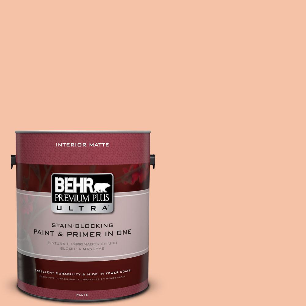 1 gal. #230C-3 Pink Beach Flat/Matte Interior Paint