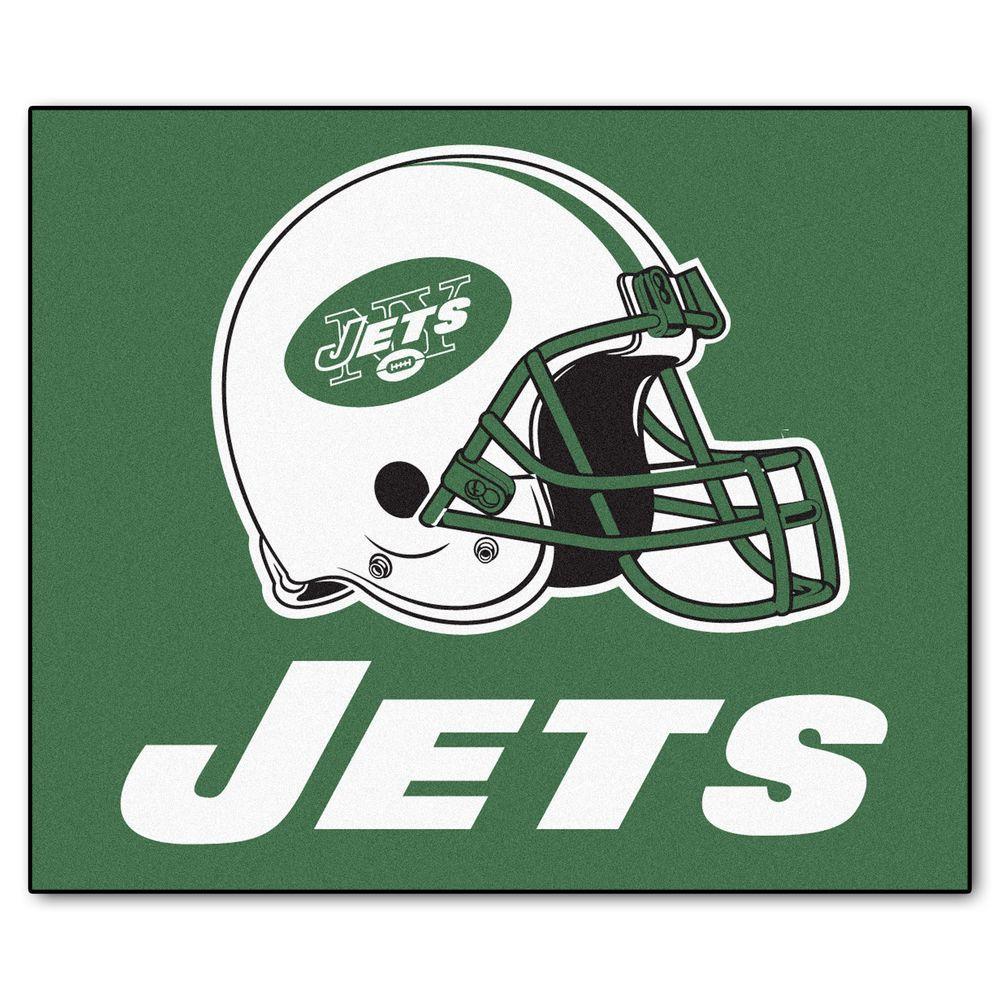New York Jets 5 ft. x 6 ft. Tailgater Rug