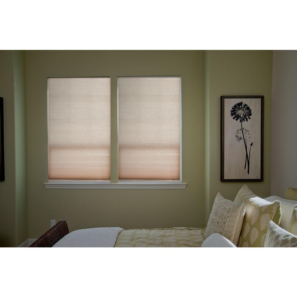 Redi Shade Trim-at-Home Easy Lift Natural 9/16 in. Cordless Light Filtering Cellular Shade - 36 in. W x 64 in. L