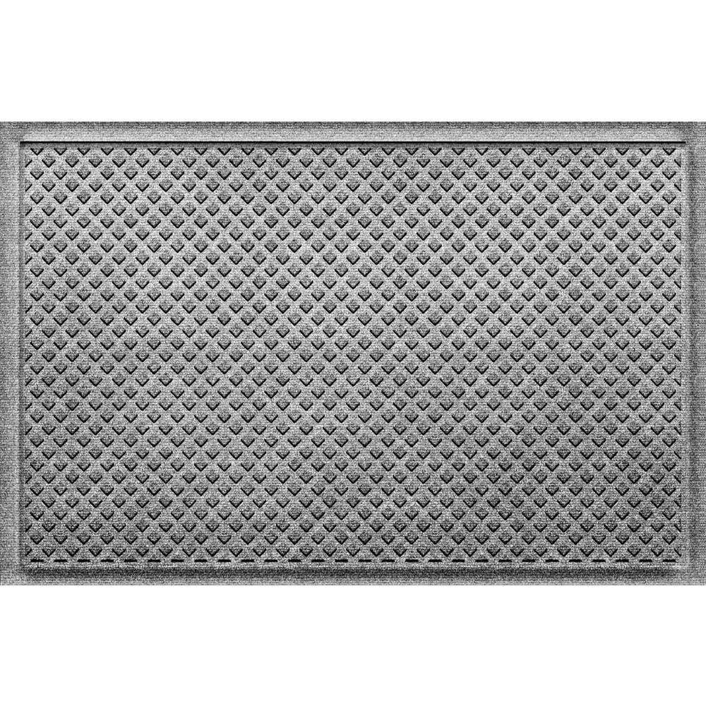 Gems Medium Gray 24 in x 36 in Polypropylene Door Mat