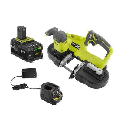 18-Volt ONE+ Cordless Portable Band Saw with (1) 4.0 Ah Lithium-Ion Battery and 18-Volt Charger