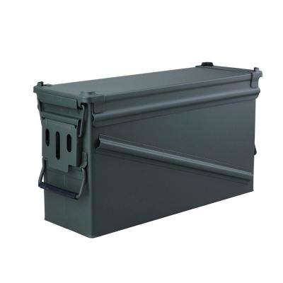 18.5 in. x 6.5 in Steel Metal Ammo Storage Box in OD Green with Airtight Gasket Seal
